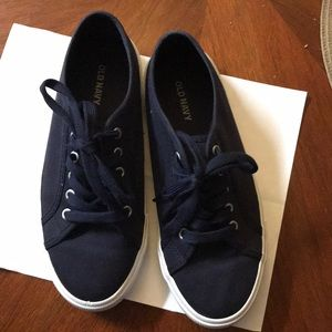 Blue old navy canvas sneakers